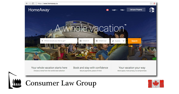 HomeAway Owners / Subscribers Canadian Class Action