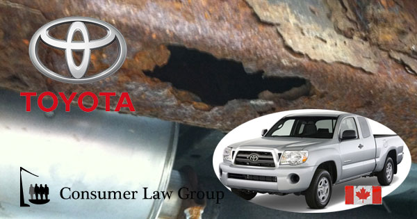 Toyota Rusty Frame Canadian Cl Action Consumer Law Group Actions Canada